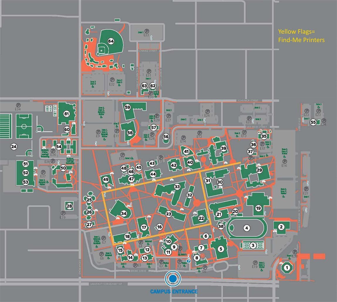 UTRGV Computer Lab maps